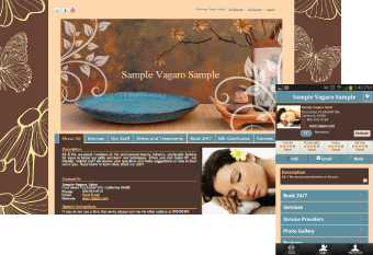 Custom Salon Website Design 1
