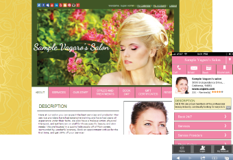 Custom Salon Website Design 2