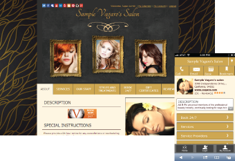 Custom Salon Website Design 3
