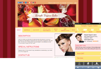 Custom Salon Website Design 4
