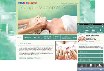 Custom Salon Website Design 5