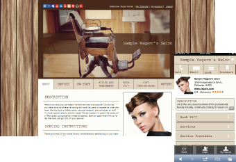 Custom Salon Website Design 6